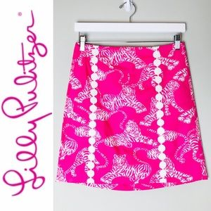 Lilly Pulitzer Scudder Skirt in Pink Salmon Print